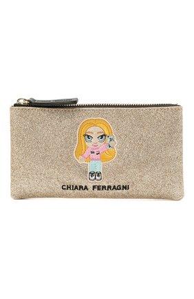Детская сумка CHIARA FERRAGNI золотого цвета, арт. 21PE-CFPT005 | Фото 1
