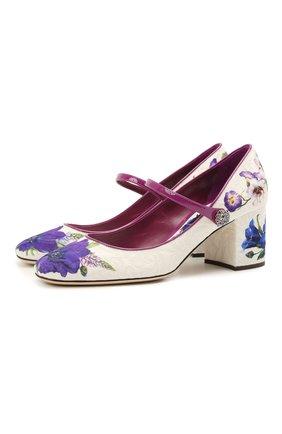 Женские комбинированные туфли alexa DOLCE & GABBANA разноцветного цвета, арт. CD1627/B9N01 | Фото 1