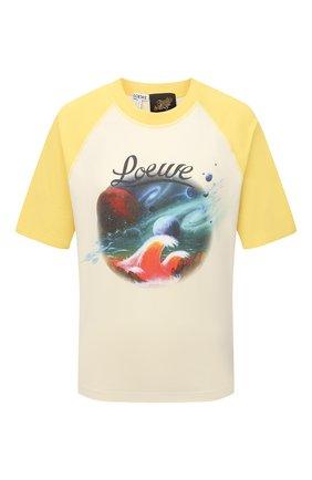 Женская хлопковая футболка loewe x paula's ibiza LOEWE желтого цвета, арт. S616Y22X14 | Фото 1 (Принт: С принтом; Рукава: Короткие; Длина (для топов): Стандартные; Женское Кросс-КТ: Футболка-одежда; Материал внешний: Хлопок; Стили: Бохо)
