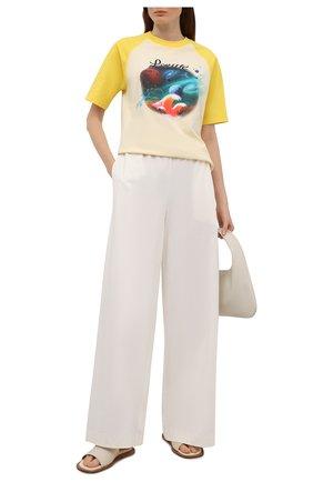 Женская хлопковая футболка loewe x paula's ibiza LOEWE желтого цвета, арт. S616Y22X14 | Фото 2 (Принт: С принтом; Рукава: Короткие; Длина (для топов): Стандартные; Женское Кросс-КТ: Футболка-одежда; Материал внешний: Хлопок; Стили: Бохо)