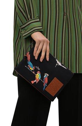 Женский клатч oblong loewe x paula's ibiza LOEWE черного цвета, арт. C730C63X14   Фото 2 (Женское Кросс-КТ: Клатч-клатчи; Материал: Текстиль; Размер: medium)