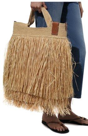 Женская сумка slit loewe x paula's ibiza LOEWE бежевого цвета, арт. A685V81X03 | Фото 2
