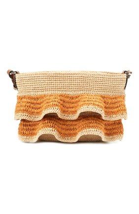 Женская сумка pochette loewe x paula's ibiza LOEWE бежевого цвета, арт. A630W13X01 | Фото 1