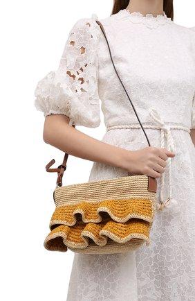 Женская сумка pochette loewe x paula's ibiza LOEWE бежевого цвета, арт. A630W13X01 | Фото 2