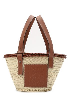 Женская сумка basket small loewe x paula's ibiza LOEWE бежевого цвета, арт. A223S93X17   Фото 1