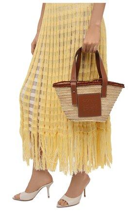 Женская сумка basket small loewe x paula's ibiza LOEWE бежевого цвета, арт. A223S93X17   Фото 2