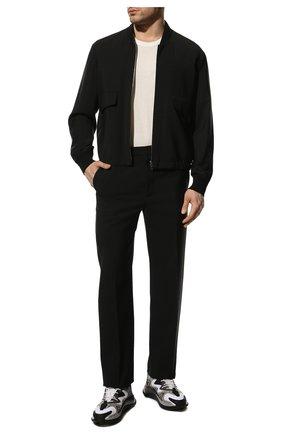 Мужские комбинированные кроссовки wade runner VALENTINO серого цвета, арт. VY0S0D95/NVD | Фото 2 (Стили: Гранж; Материал внутренний: Текстиль; Материал внешний: Текстиль; Подошва: Массивная)