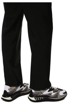 Мужские комбинированные кроссовки wade runner VALENTINO серого цвета, арт. VY0S0D95/NVD | Фото 3 (Материал внешний: Текстиль; Стили: Гранж; Материал внутренний: Текстиль; Подошва: Массивная)
