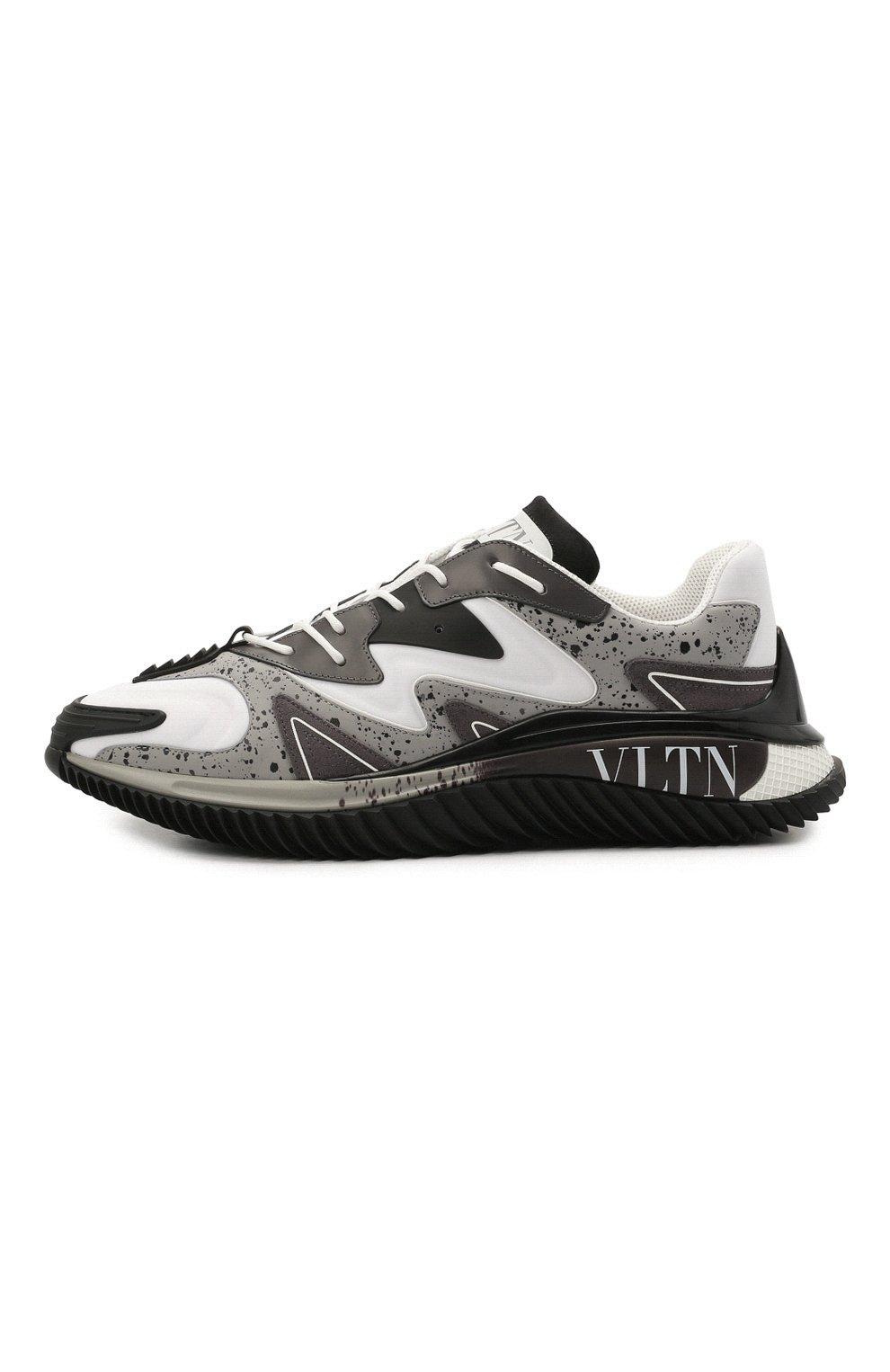 Мужские комбинированные кроссовки wade runner VALENTINO серого цвета, арт. VY0S0D95/NVD | Фото 4 (Материал внешний: Текстиль; Стили: Гранж; Материал внутренний: Текстиль; Подошва: Массивная)