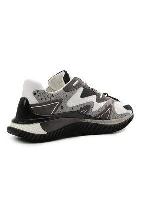 Мужские комбинированные кроссовки wade runner VALENTINO серого цвета, арт. VY0S0D95/NVD | Фото 5 (Материал внешний: Текстиль; Стили: Гранж; Материал внутренний: Текстиль; Подошва: Массивная)
