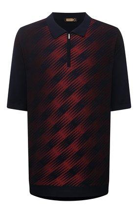 Мужское поло из шелка и хлопка ZILLI бордового цвета, арт. MBV-PZ112-SPRA1/MC01/66-68 | Фото 1