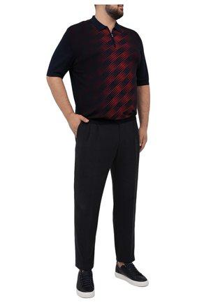 Мужское поло из шелка и хлопка ZILLI бордового цвета, арт. MBV-PZ112-SPRA1/MC01/66-68 | Фото 2