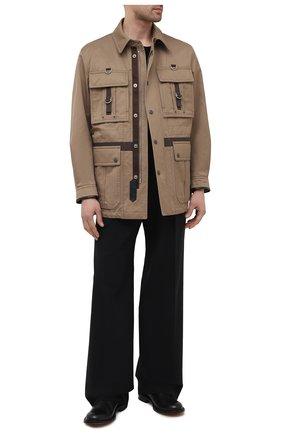 Мужская куртка из хлопка и вискозы TOM FORD хаки цвета, арт. BW076/TF0544 | Фото 2