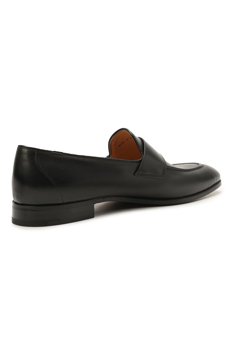 Мужские кожаные пенни-лоферы CHURCH'S черного цвета, арт. EDB107/9AG4   Фото 4 (Материал внутренний: Натуральная кожа; Стили: Классический)