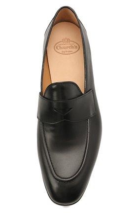 Мужские кожаные пенни-лоферы CHURCH'S черного цвета, арт. EDB107/9AG4   Фото 5 (Материал внутренний: Натуральная кожа; Стили: Классический)