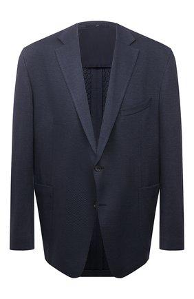Мужской хлопковый пиджак EDUARD DRESSLER темно-синего цвета, арт. 7301/21J02 | Фото 1