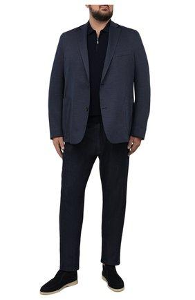 Мужской хлопковый пиджак EDUARD DRESSLER темно-синего цвета, арт. 7301/21J02 | Фото 2