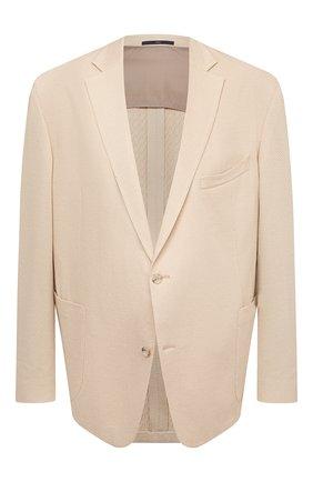 Мужской хлопковый пиджак EDUARD DRESSLER бежевого цвета, арт. 7301/21J02 | Фото 1