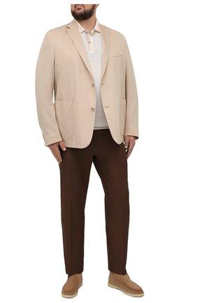 Мужской хлопковый пиджак EDUARD DRESSLER бежевого цвета, арт. 7301/21J02 | Фото 2