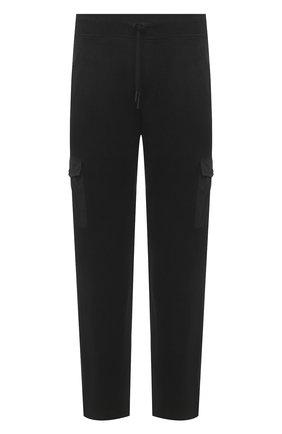 Мужские хлопковые брюки-карго GRAN SASSO черного цвета, арт. 57161/31505 | Фото 1