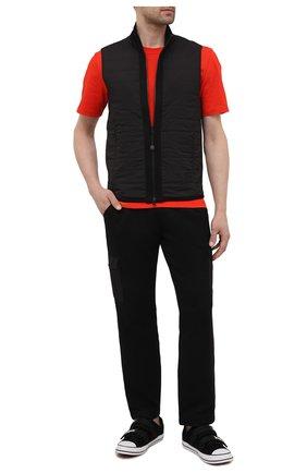 Мужские хлопковые брюки-карго GRAN SASSO черного цвета, арт. 57161/31505 | Фото 2