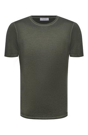 Мужская шелковая футболка GRAN SASSO зеленого цвета, арт. 60133/78302 | Фото 1