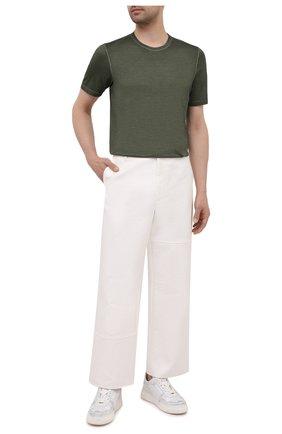 Мужская шелковая футболка GRAN SASSO зеленого цвета, арт. 60133/78302 | Фото 2