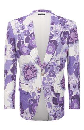 Мужской пиджак из вискозы TOM FORD фиолетового цвета, арт. 942R17/11MB40 | Фото 1