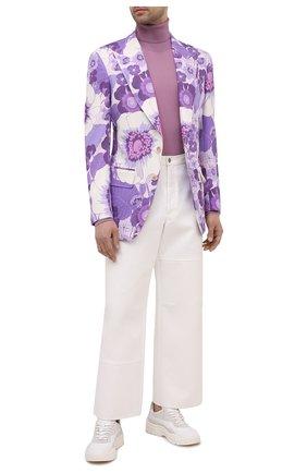 Мужской пиджак из вискозы TOM FORD фиолетового цвета, арт. 942R17/11MB40 | Фото 2