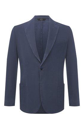 Мужской шелковый пиджак BRIONI темно-синего цвета, арт. SGMR0L/P0T00/PLUME | Фото 1