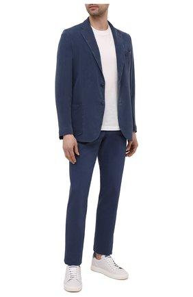 Мужской шелковый пиджак BRIONI темно-синего цвета, арт. SGMR0L/P0T00/PLUME | Фото 2