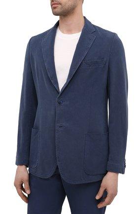 Мужской шелковый пиджак BRIONI темно-синего цвета, арт. SGMR0L/P0T00/PLUME | Фото 3