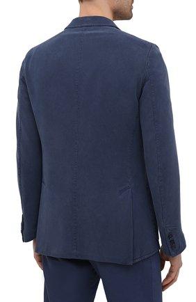 Мужской шелковый пиджак BRIONI темно-синего цвета, арт. SGMR0L/P0T00/PLUME | Фото 4