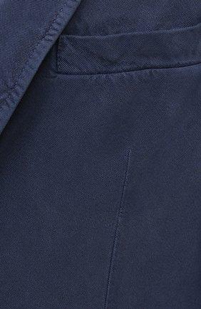 Мужской шелковый пиджак BRIONI темно-синего цвета, арт. SGMR0L/P0T00/PLUME | Фото 5