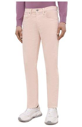 Мужские джинсы TOM FORD светло-розового цвета, арт. BWJ32/TFD002 | Фото 3 (Силуэт М (брюки): Прямые; Кросс-КТ: Деним; Длина (брюки, джинсы): Стандартные; Материал внешний: Хлопок; Стили: Кэжуэл)