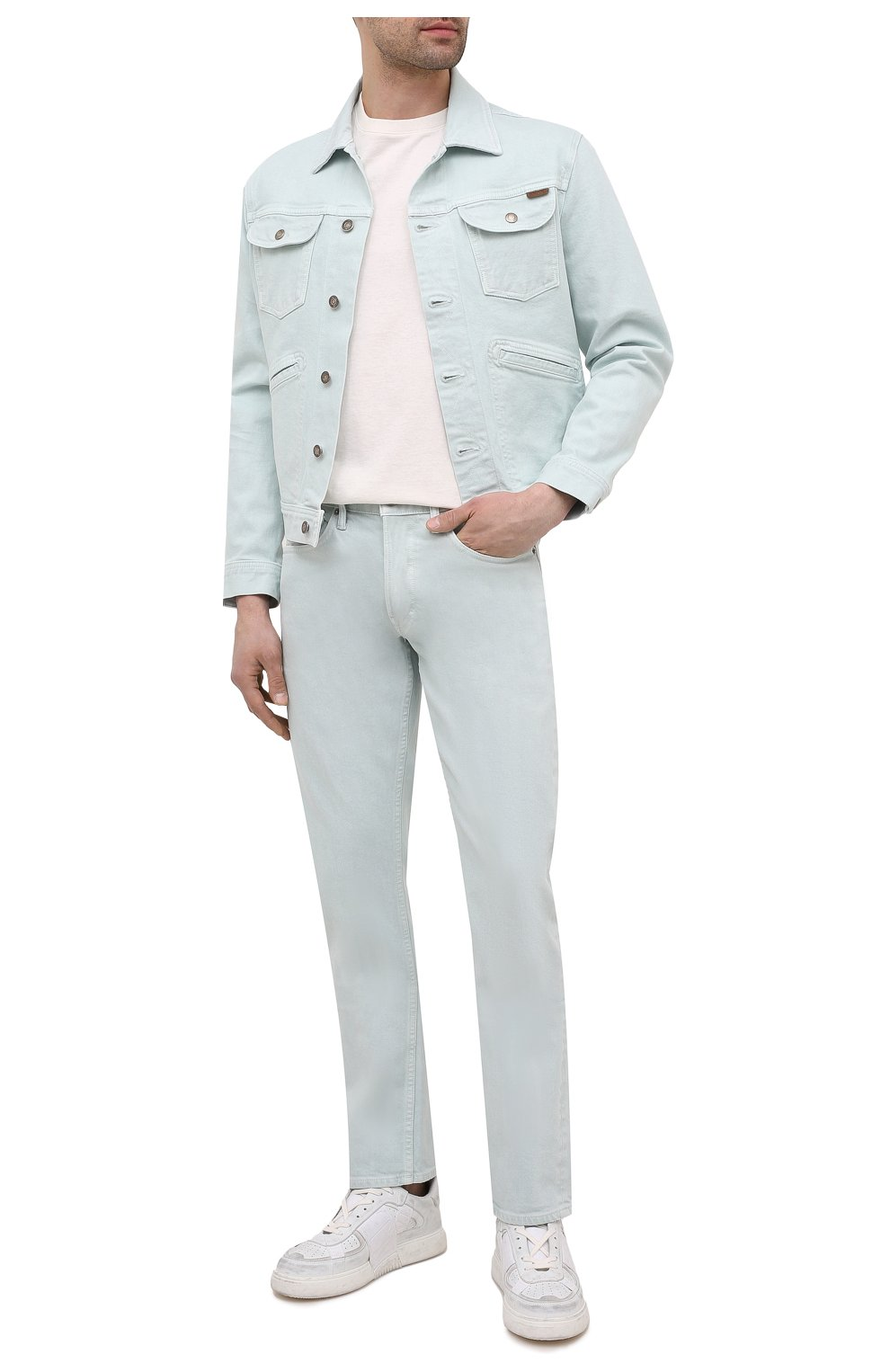 Мужская джинсовая куртка TOM FORD светло-голубого цвета, арт. BWJ32/TFD116 | Фото 2