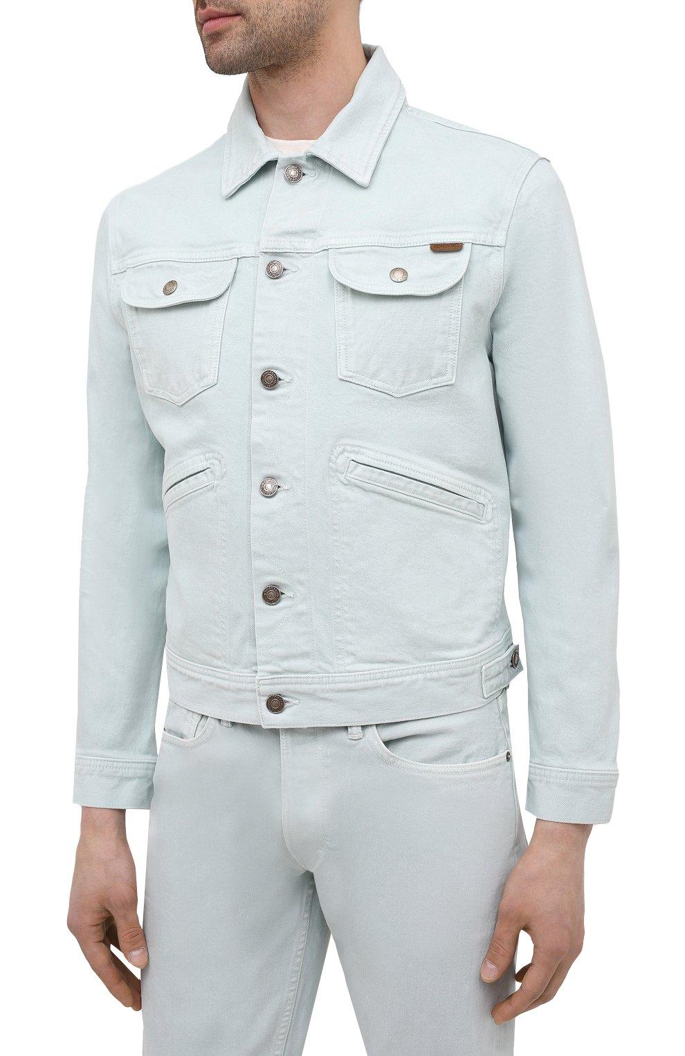 Мужская джинсовая куртка TOM FORD светло-голубого цвета, арт. BWJ32/TFD116 | Фото 3