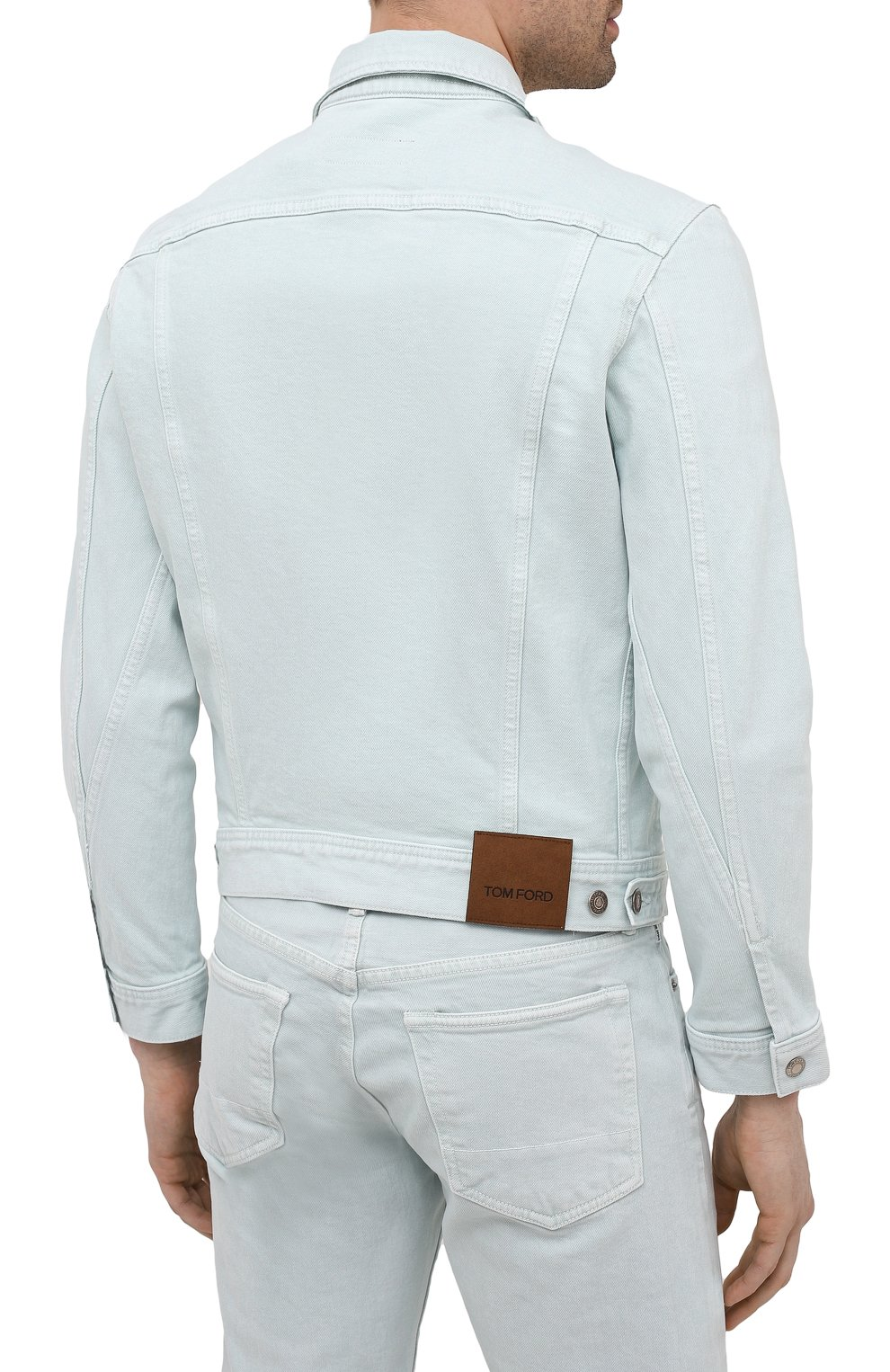 Мужская джинсовая куртка TOM FORD светло-голубого цвета, арт. BWJ32/TFD116 | Фото 4