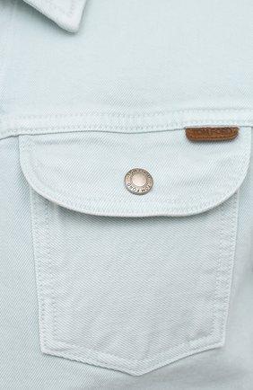 Мужская джинсовая куртка TOM FORD светло-голубого цвета, арт. BWJ32/TFD116 | Фото 5