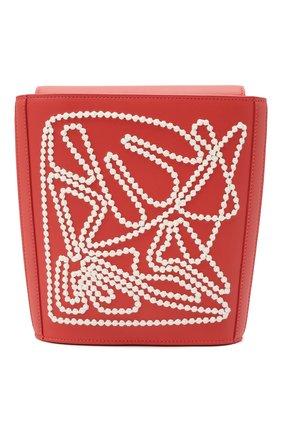 Женская сумка flat bucket LORO PIANA кораллового цвета, арт. FAL6585   Фото 1