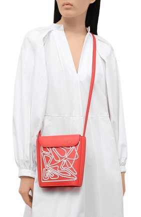 Женская сумка flat bucket LORO PIANA кораллового цвета, арт. FAL6585   Фото 2