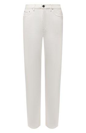 Женские джинсы TOTÊME белого цвета, арт. 212-236-748   Фото 1 (Силуэт Ж (брюки и джинсы): Прямые; Длина (брюки, джинсы): Стандартные; Стили: Кэжуэл; Материал внешний: Хлопок)