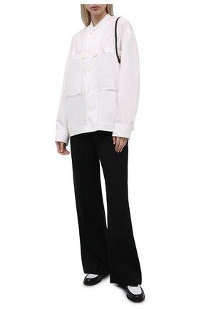 Женская хлопковая рубашка Y`S белого цвета, арт. YD-B43-030 | Фото 2