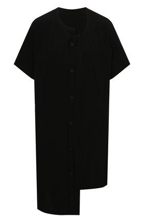 Женская рубашка YOHJI YAMAMOTO черного цвета, арт. ND-B51-500   Фото 1