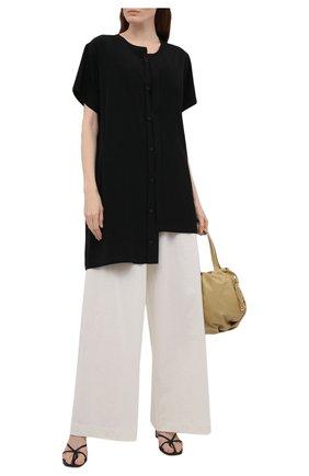 Женская рубашка YOHJI YAMAMOTO черного цвета, арт. ND-B51-500   Фото 2