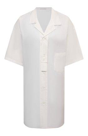 Женская рубашка YOHJI YAMAMOTO белого цвета, арт. ND-B01-203   Фото 1