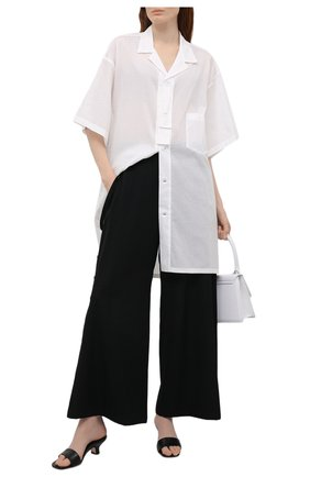 Женская рубашка YOHJI YAMAMOTO белого цвета, арт. ND-B01-203   Фото 2