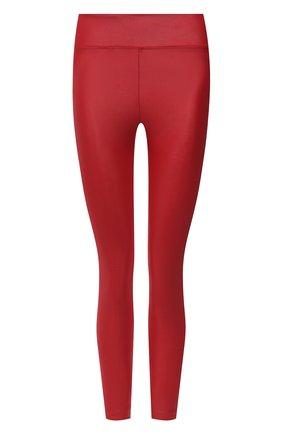 Женские леггинсы с металлизированным эффектом KORAL красного цвета, арт. A2017HS04 | Фото 1