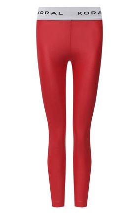 Женские леггинсы KORAL красного цвета, арт. A2328S04 | Фото 1