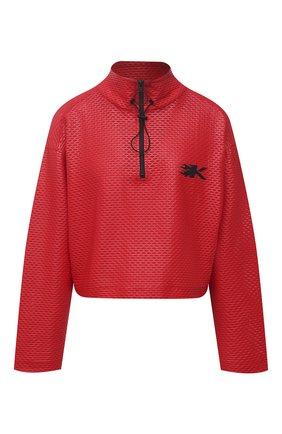 Женская анорак KORAL красного цвета, арт. A6477K09 | Фото 1 (Кросс-КТ: Куртка; Рукава: Длинные; Материал внешний: Синтетический материал; Стили: Спорт-шик; Длина (верхняя одежда): Короткие)